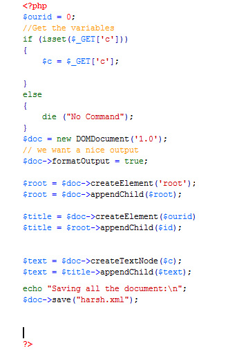 PHP Code for Index.php
